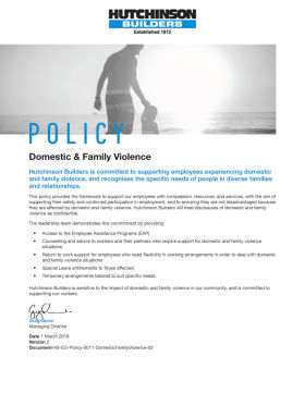 Domestic and Family Violence Policy