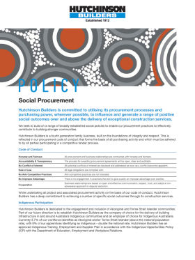 Social Procurement Policy